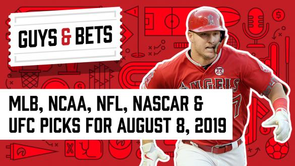 Odds Shark Guys & Bets Iain MacMillan Scott Hastings Andrew Avery Mike Trout Los Angeles Angels MLB Betting Picks Odds Wagers