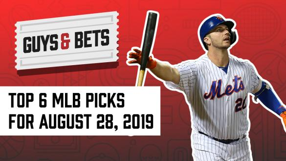 Odds Shark Guys & Bets Joe Osborne Kris Abbott Andrew Avery Major League Baseball Betting Picks Wagers Capping Pete Alonso New York Mets