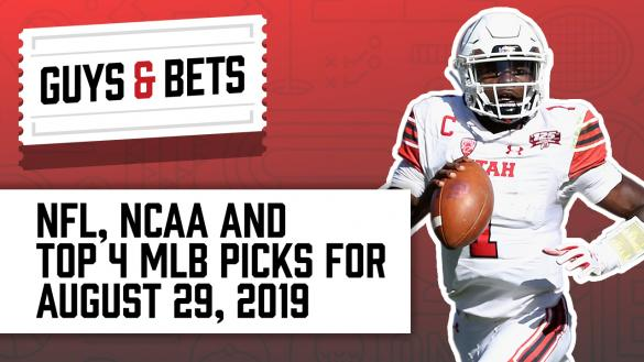 Odds Shark Guys & Bets Joe Osborne Kris Abbott Andrew Avery Utah Utes College Football Betting NFL MLB