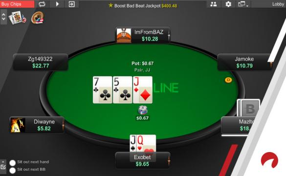 Small stakes poker