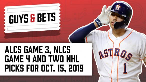 Odds Shark Guys & Bets Joe Osborne Kris Abbott Andrew Avery MLB Betting Odds Picks Wagers Tips Playoffs Postseason NHL Houston Astros Carlos Correa