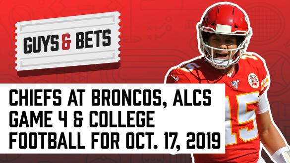 Odds Shark Guys & Bets Joe Osborne Kris Abbott NFL Betting Odds Picks Tip Wagers MLB College Football Patrick Mahomes