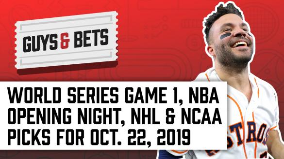 Odds Shark Guys & Bets Joe Osborne Kris Abbott Andrew Avery World Series NBA NHL Betting Odds Picks Tips Predictions Jose Altuve