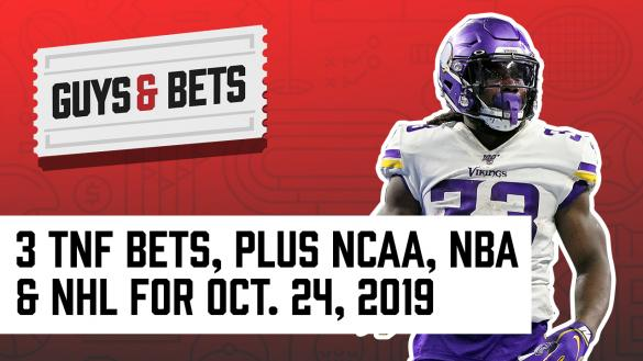 Odds Shark Guys & Bets Joe Osborne Kris Abbott Andrew Avery NFL Betting NBA NHL College Football Odds Picks Wagers Tips Predictions Dalvin Cook