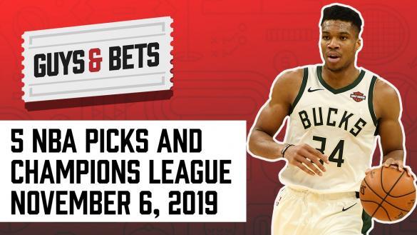 Odds Shark Guys & Bets Joe Osborne Andrew Avery NBA Betting Picks Tips Wagers Predictions Milwaukee Bucks Champions League PSG