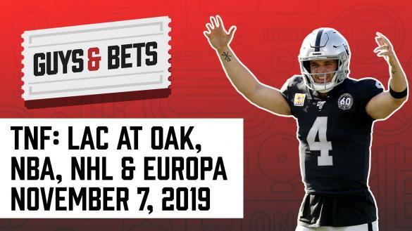 Odds Shark Guys & Bets Joe Osborne Andrew Avery NFL Betting Picks Tips Odds Predictions Oakland Raiders Derek Carr