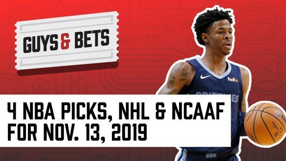 Odds Shark Guys & Bets Joe Osborne Andrew Avery Chalk Ninja NBA College Football NCAA NHL Betting Odds Picks Tips Predictions Wagers Ja Morant