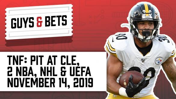 Odds Shark Guys & Bets Joe Osborne Andrew Avery NFL Betting Odds Picks Tips Pittsburgh Steelers James Conner