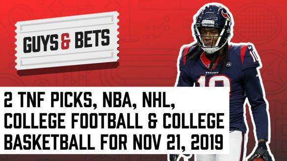 Odds Shark Guys & Bets Joe Osborne Andrew Avery NFL Betting Odds Picks Tips Predictions College Football Basketball NBA NHL Houston Texans