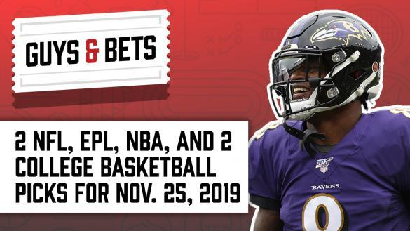 Odds Shark Guys & Bets Andrew Avery Iain MacMillan NFL College Basketball NBA Premier League Betting Odds Tips Picks Predictions Spread Total Lamar Jackson