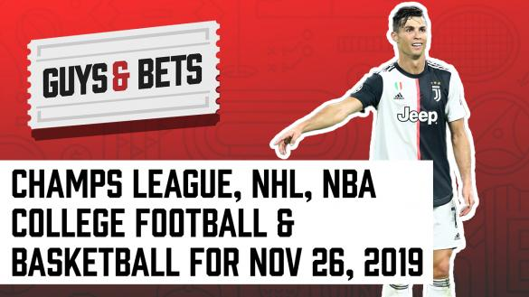 Odds Shark Guys & Bets Andrew Avery Joe Osborne College Football College Basketball NBA NHL Champions League Betting Tips Picks Odds Wagers Cristiano Ronald Juventus