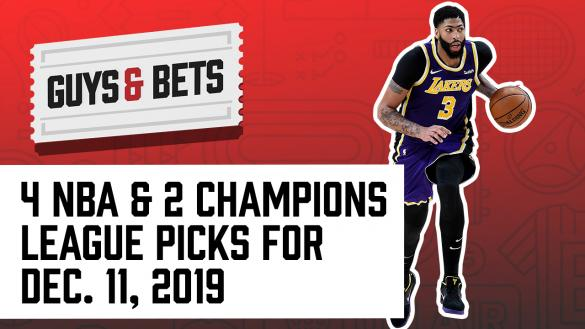 Odds Shark Guys & Bets Joe Osborne Andrew Avery Iain Macmillan NBA Betting Odds tips Picks Predictions Wagers Bets Champions League Soccer Anthony Davis