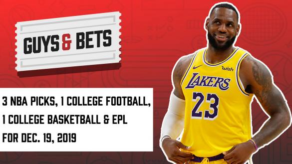 Odds Shark Guys & Bets Andrew Avery Joe Osborne NBA Betting Odds Picks Tips Predictions Wagers LeBron James college football Bahamas Bowl college basketball Premier League