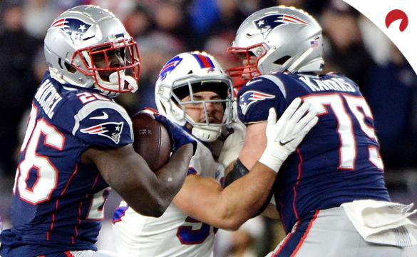Sony Michel NFL Football Betting Preview Miami Dolphins vs New England Patriots