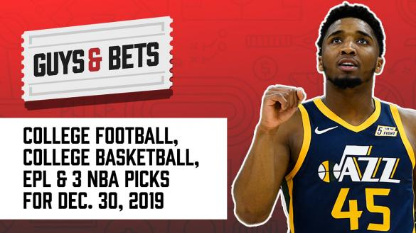 Odds Shark Guys & Bets Joe Osborne Andrew Avery NBA College Football Premier League College Basketball Betting Odds Picks Tips Predictions Donovan Mitchell