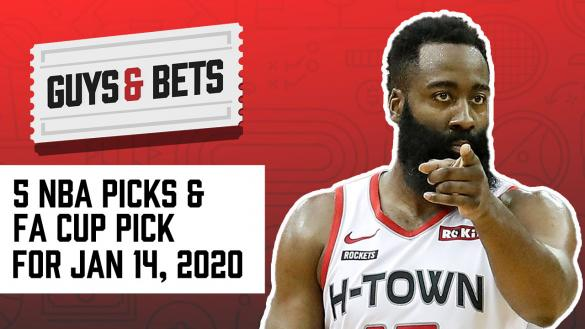 Odds Shark Guys & Bets Andrew Avery Joe Osborne NBA Betting Odds Tips Picks Predictions FA Cup Soccer Betting James Harden