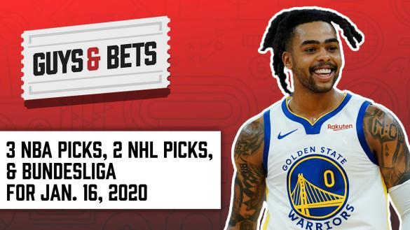 Odds Shark Guys & Bets Joe Osborne Andrew Avery Iain MacMillan NBA Betting Odds Tips Picks Predictions NHL Betting Soccer D'Angelo Russell