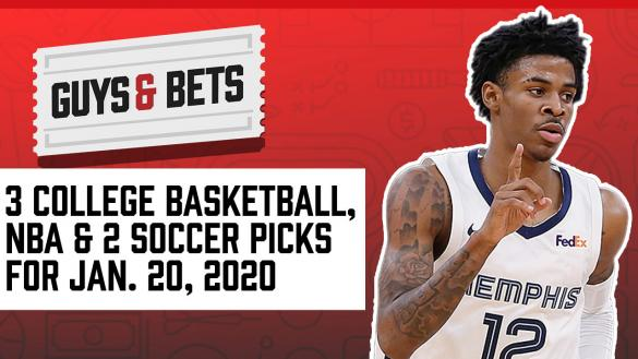 Odds Shark Guys & Bets Andrew Avery Iain MacMillan NBA betting Odds Tips Picks College Basketball Soccer Ja Morant