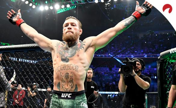 Conor McGregor embraces crowd ahead of a fight