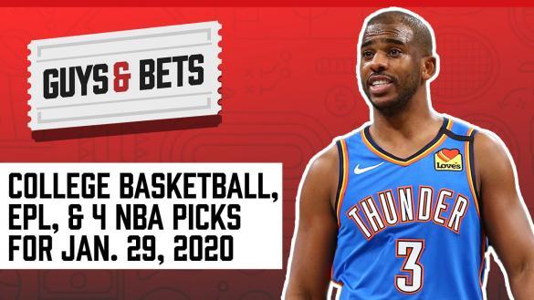Odds Shark Guys & Bets Joe Osborne Andrew Avery NBA College Basketball Premier League Betting Odds Tips Picks Wagers Predictions