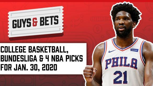 Odds Shark Guys & Bets Joe Osborne Andrew Avery NBA College Basketball Soccer Betting Odds Tips Picks Predictions Wagers Joel Embiid