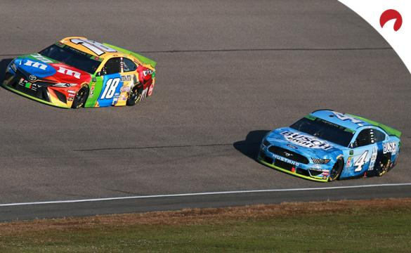 Kevin Harvick (right) is favored in the Las Vegas Motor Speedway odds.