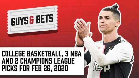 Odds Shark Guys & Bets Joe Osborne Andrew Avery Iain Macmillan NBA College Basketball Champions League Football Soccer Betting Odds Tips Picks Wagers Predictions Cristiano Ronaldo