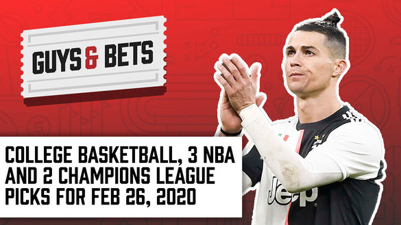 Odds Shark Guys & Bets Joe Osborne Andrew Avery Iain Macmillan NBA College Basketball Champions League Football Soccer Betting Odds Tips Picks Wagers Predictions Cristiano Ronaldo