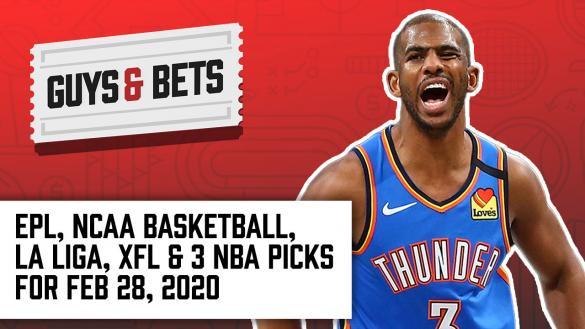Odds Shark Guys & Bets Joe Osborne Andrew Avery Harry Gagnon Iain MacMillan NBA College Basketball XFL Soccer Betting Odds Tips Picks Predictions Chris Paul