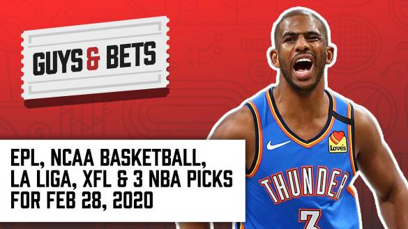 Odds Shark Guys & Bets Joe Osborne Andrew Avery Harry Gagnon Iain MacMillan NBA College Basketball XFL Soccer Betting Odds Tips Picks Predictions Chris Paul