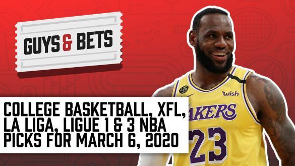 Odds Shark Guys & Bets Joe Osborne Andrew Avery iain MacMillan Harry Gagnon NBA College Basketball Soccer XFL Betting Odds Tips Picks Predictions LeBron James