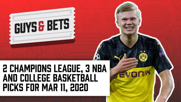 Odds Shark Guys & Bets Joe Osborne Andrew Avery Iain MacMillan NBA College Basketball Soccer Champions League Football Betting Odds Tips Picks Predictions