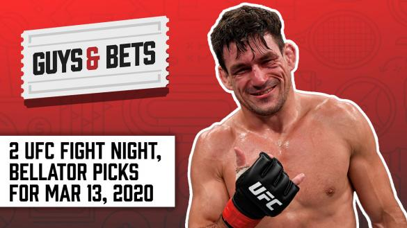 Odds Shark Guys & Bets Joe Osborne Andrew Avery Iain Macmillan Harry Gagnon UFC Fight Night 170 Bellator betting odds tips picks predictions Demian Maia