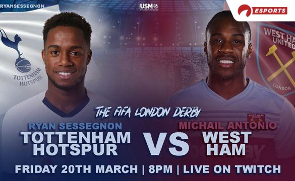 Tottenham's Ryan Sessegnon and West Ham's Michail Antonio will not let the London Derby go unplayed. Though the game can't be contested on the physical pitch due to the coronavirus, Sessegnon and Antonio will take to the virtual pitch of FIFA 20.