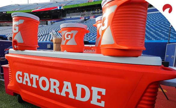 Image of Gatorade buckets in a stadium