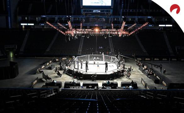 UFC Octagon with no fans in the stands