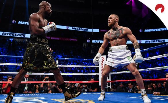 Floyd Mayweather and Conor McGregor in the boxing ring