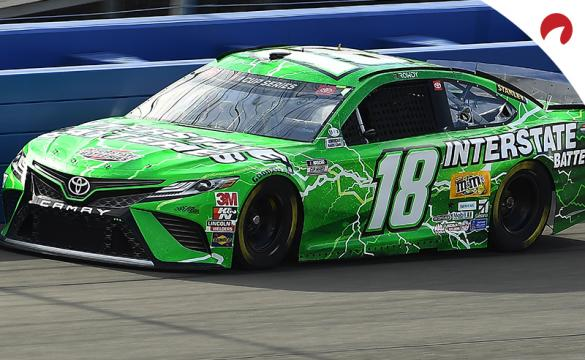 Kyle Busch racing at Auto Club Speedway