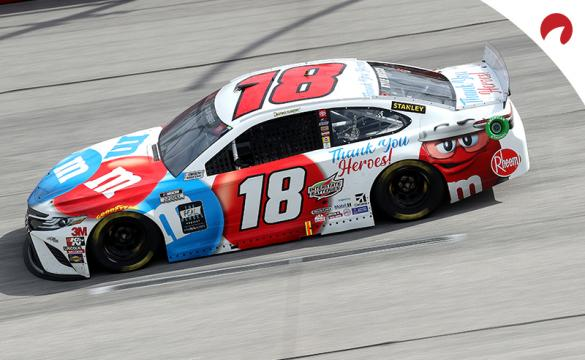 Kyle Busch, who is favored to win the Supermarket Heroes 500, racing at Darlington Raceway