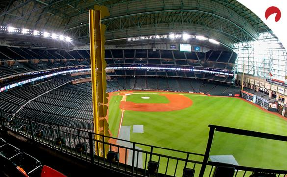 Empty Minute Maid Park as MLB is the betting favorite to return to action