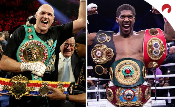 Tyson Fury (Left) is favored in the Tyson Fury vs Anthony Joshua Odds
