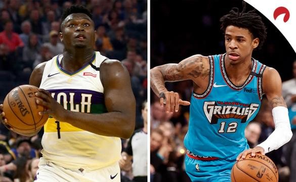 NBA Rookie Of The Year Betting Odds Zion Williamson and Ja Morant June 30 2020
