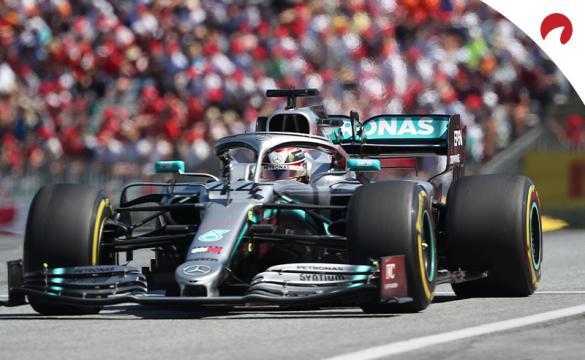 2020 Austrian Grand Prix Odds Lewis Hamilton in his Mercedes F1 car
