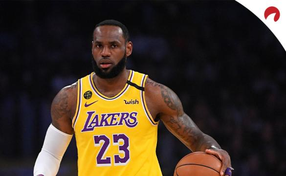NBA Championship Odds July 20, 2020 LeBron James dribbling up the court