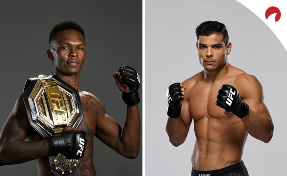 Israel Adesanya and Paulo Costa pose in photoshoots