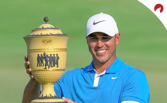 Brooks Koepka holding the trophy after winning the World Golf Championships - FedEx St. Jude Invitational on July 28, 2019.
