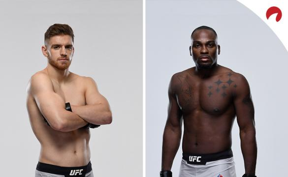 Edmen Shahbazyan and Derek Brunson posing in photoshoots