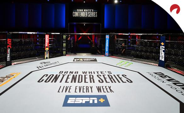 UFC Octagon with Dana White's Contender Series featured in the center