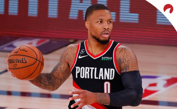 NBA Bubble Betting Trends - August 5 2020 Damian Lillard setting up a play