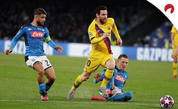 Apuestas para el Barcelona Vs Napoli de la Champions League